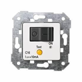 Interruptor automático magnetotérmico y diferencial de empotrar 16 A/10 mA blanco