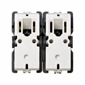 Grupo de 2 pulsadores para persianas 10 A 250V~ sin sistema de enclavamiento