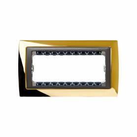 Marco de 5 medios elementos con bastidor de 1 fila oro interior grafito Simon 82 Centralizaciones