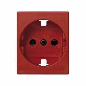 Tapa con dispositivo de seguridad para la base de enchufe schuko rojo Simon 82 Centralizaciones