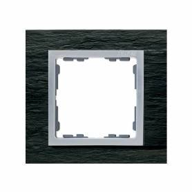 Marco para 1 elemento pizarra interior aluminio Simon 82 Nature