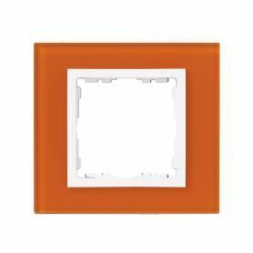 Marco para 1 elemento cristal mandarina interior blanco Simon 82 Nature