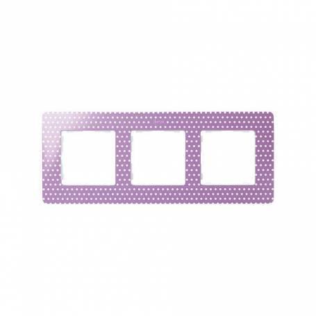 Marco para 3 elementos topos rosa pastel Simon 82 Detail Original