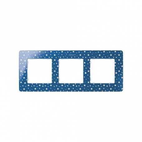 Marco para 3 elementos estrellas azul índigo Simon 82 Detail Original
