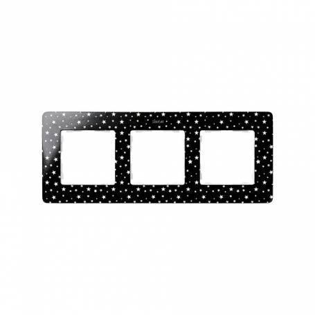 Marco para 3 elementos estrellas negro Simon 82 Detail Original
