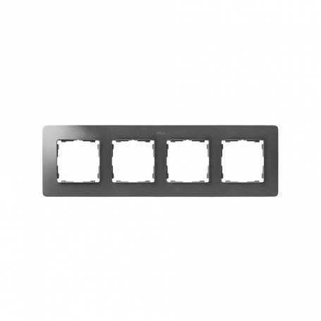 Marco para 4 elementos aluminio frío base negro Simon 82 Detail Original