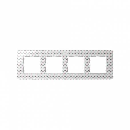 Marco para 4 elementos topos blanco Simon 82 Detail Original