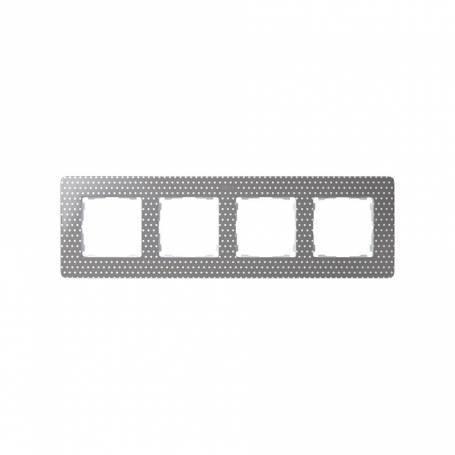 Marco para 4 elementos topos gris cálido Simon 82 Detail Original