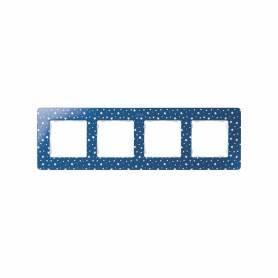 Marco para 4 elementos estrellas azul índigo Simon 82 Detail Original