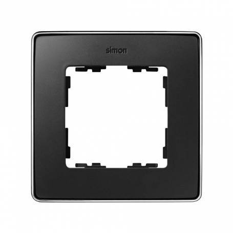 Marco para 1 elemento grafito base cromo Simon 82 Detail Select