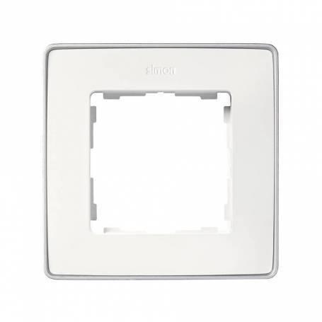 Marco para 1 elemento blanco base aluminio Simon 82 Detail Select