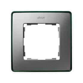 Marco para 1 elemento aluminio frío base verde Simon 82 Detail Select