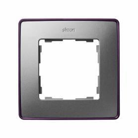 Marco para 1 elemento aluminio frío base morada Simon 82 Detail Select