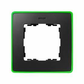 Marco para 1 elemento grafito base verde fluor Simon 82 Detail Select