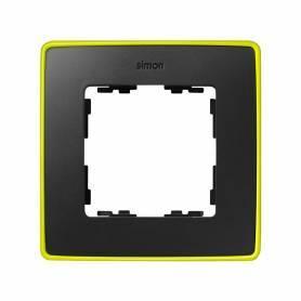 Marco para 1 elemento grafito base amarillo fluor Simon 82 Detail Select