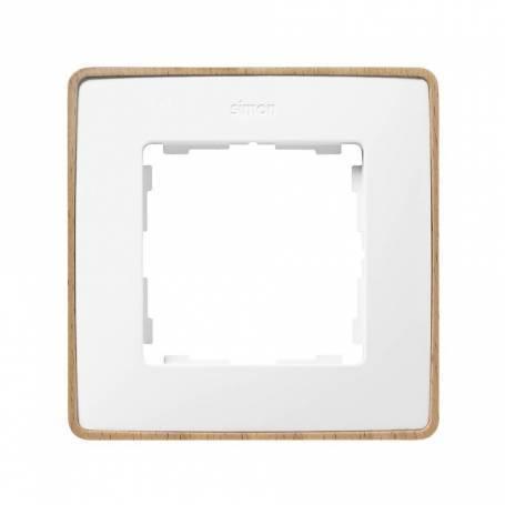 Marco para 1 elemento blanco base madera haya Simon 82 Detail Select
