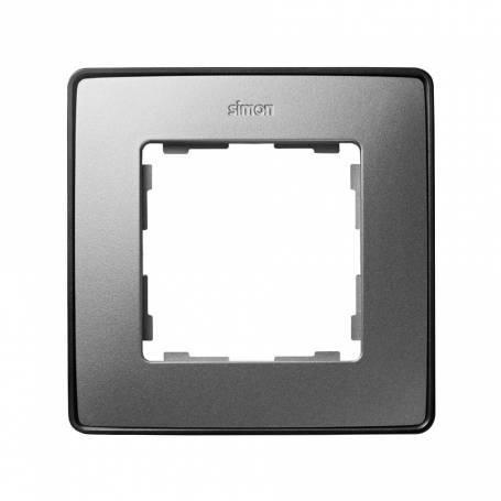 Marco para 1 elemento aluminio frío base grafito Simon 82 Detail Select