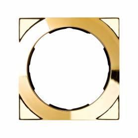 Marco cuadrado para 1 elemento oro Simon 88