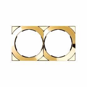 Marco cuadrado para 2 elementos oro Simon 88