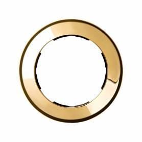 Marco redondo para 1 elemento oro Simon 88