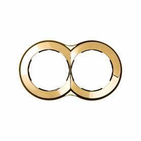 Marco redondo para 2 elementos oro Simon 88