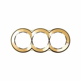 Marco redondo para 3 elementos oro Simon 88