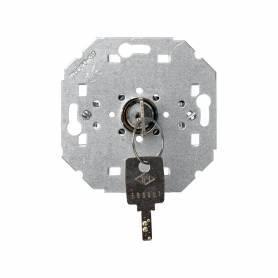 Conmutador/pulsador con llave 5 A 250V~ (llave extraible en posición de reposo) y sistema de embornamiento por soldadura