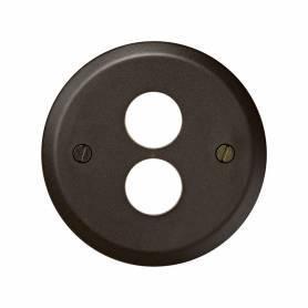 Tapa para toma de altavoz estéreo marrón Simon 88