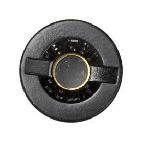 Tapón portafusible con ventana para indicador de fusión negro Simon 75