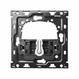 Kit back para 1 elemento con 1 conmutador pulsante Simon 100