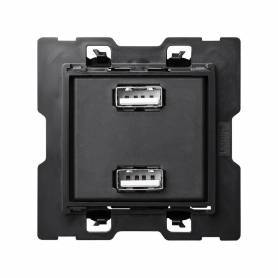 Cargador 2xUSB 2.0 5 V/DC Tipo A hembra Simon 100
