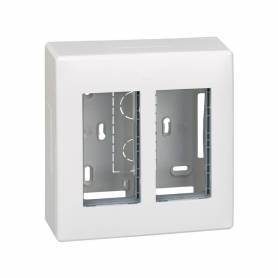 Caja de pared de superficie para 1 elemento doble blanco Simon 500 Cima