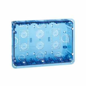 Caja de pared de empotrar para 3 elementos dobles Simon 500 Cima