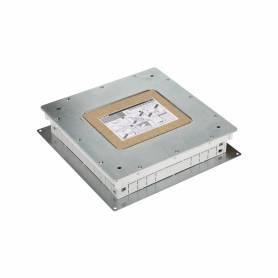 Cubeta metálica para caja de suelo regulable de 6 elementos para instalación en suelo de pavimento Simon 500 Cima