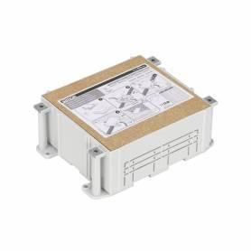 Cubeta de plástico para caja de suelo regulable de 4 elementos para instalación en suelo de pavimento Simon 500 Cima