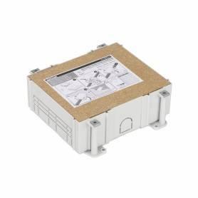 Cubeta de plástico para caja de suelo regulable de 6 elementos para instalación en suelo de pavimento Simon 500 Cima