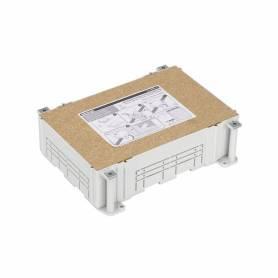 Cubeta de plástico para caja de suelo regulable de 8 elementos para instalación en suelo de pavimento Simon 500 Cima