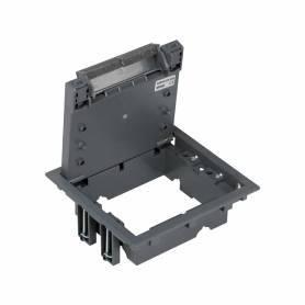 Tapa de registro de 4 elementos para instalación en suelo de pavimento o suelo técnico gris Simon 500 Cima