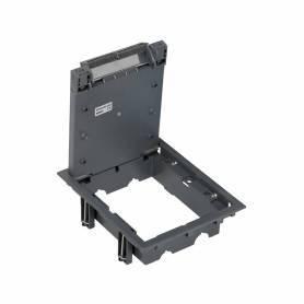Tapa de registro de 6 elementos  para instalación en suelo de pavimento o suelo técnico gris Simon 500 Cima