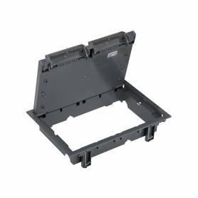 Tapa de registro de 12 elementos para instalación en suelo de pavimento o suelo técnico gris Simon 500 Cima