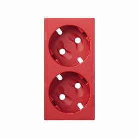 Tapa para el mecanismo de la base de enchufe schuko doble rojo Simon 500 Cima