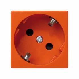 Base de enchufe schuko 16 A 250V~ con dispositivo de seguridad y embornamiento a tornillo naranja Simon K45