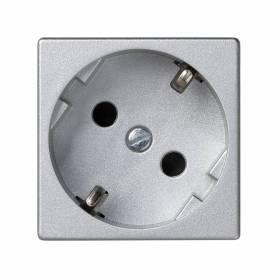 Base de enchufe schuko 16 A 250V~ con dispositivo de seguridad y embornamiento a tornillo aluminio Simon K45
