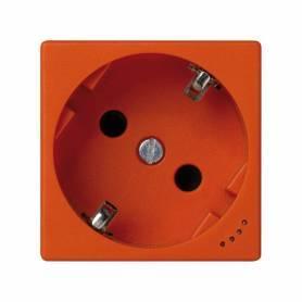 Base de enchufe schuko 16 A 250V~ con dispositivo de seguridad, indicador luminoso y emb. a tornillo naranja Simon K45