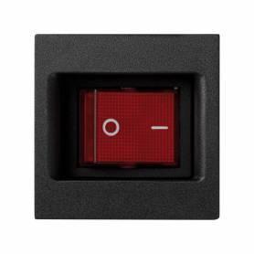 Interruptor bipolar 16 AX 250V~ con sistema de emb. por faston/soldadura y placa embellecedora grafito Simon K45