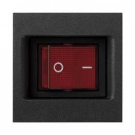 Interruptor bipolar 16 AX 250V~ con función luminosa y sistema de emb. por faston/soldadura con placa grafito Simon K45