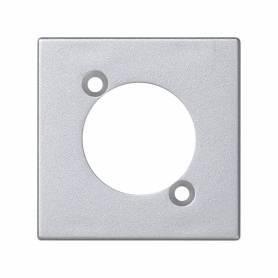 Placa embellecedora para 1 conector XLR macho o hembra de 1 elemento aluminio Simon K45