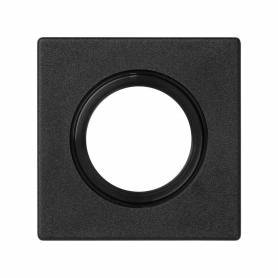 Placa embellecedora para entrada de tubo o prensaestopa de 22 mm de diámetro de 1 elemento grafito Simon K45