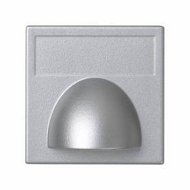 Placa embellecedora para salida de cableado de 1 elemento aluminio Simon K45