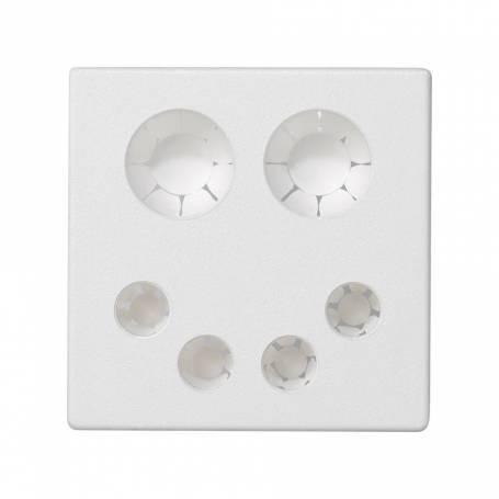 Placa embellecedora con entrada combinada de cableado eléctrico y voz y datos/multimedia de 1 elemento blanco Simon K45